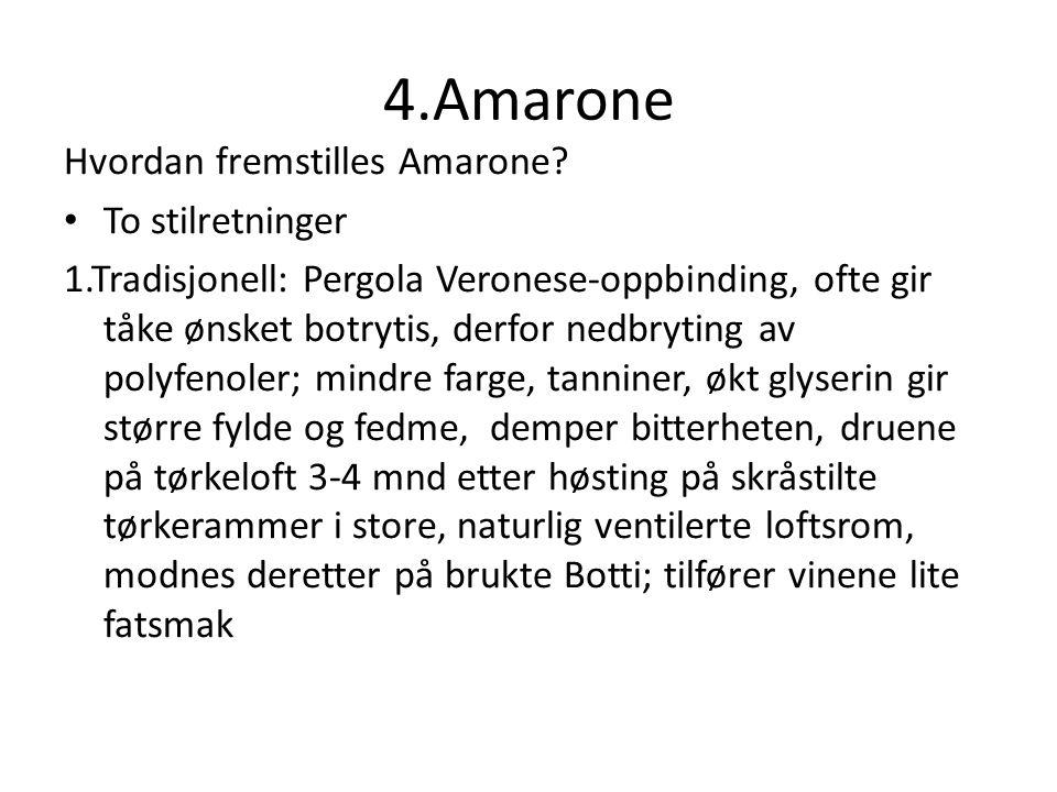 4.Amarone Hvordan fremstilles Amarone.