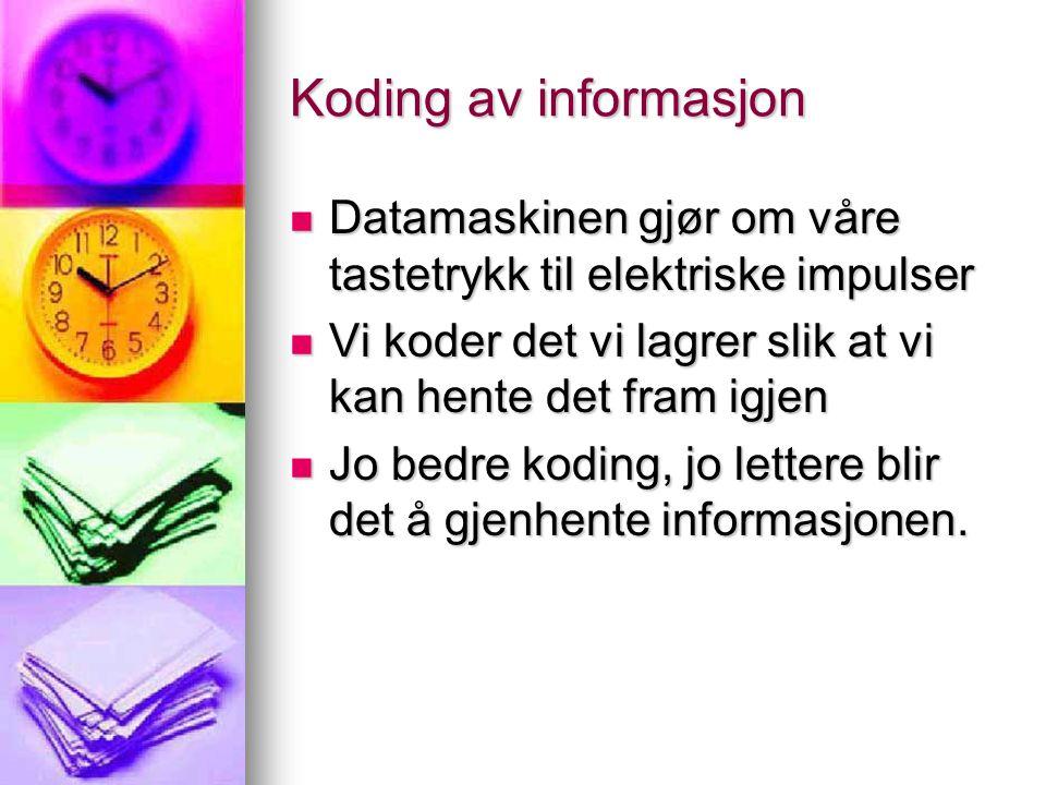 Figur - Tretrinnsmodellen Sanse- register KTMLTM Syn Hørsel Lukt Smak Berøring KTM - korttidsminne KTM - korttidsminne LTM - langtidsminne LTM - langtidsminne Opp.