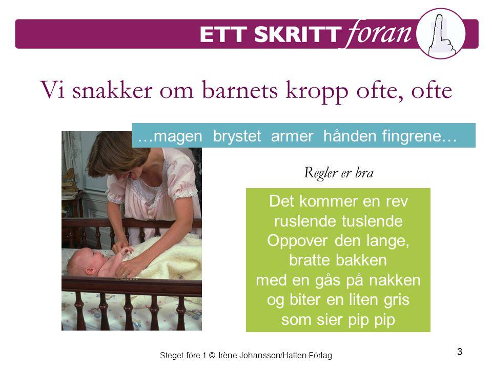 Steget före 1 © Irène Johansson/Hatten Förlag 4 Fingrene… og den lille lanken –hvordan bruker vi tegn .
