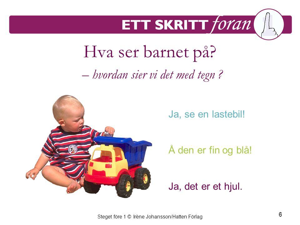 Steget före 1 © Irène Johansson/Hatten Förlag 6 Hva ser barnet på.