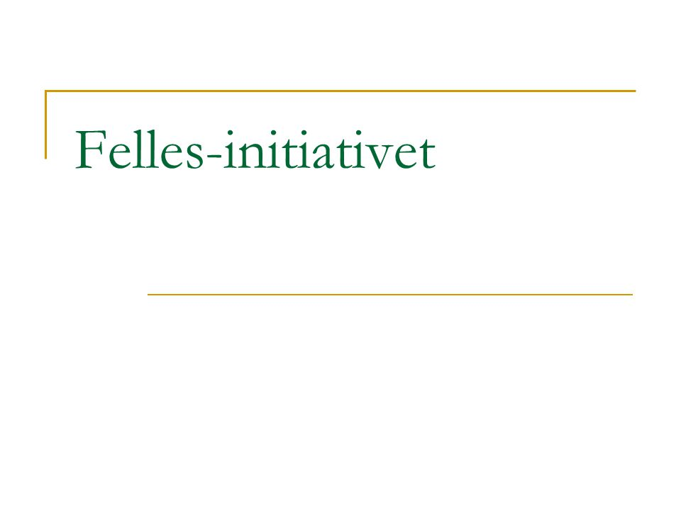 Felles-initiativet