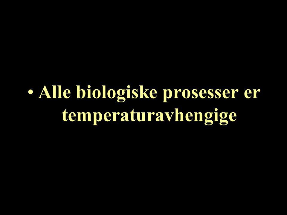 Alle arts-spesifikke virus, bakterier og parasitter har en optimal temperatur for replikasjon/formering som ligger innenfor det naturlige temperatur- regimet for verten.