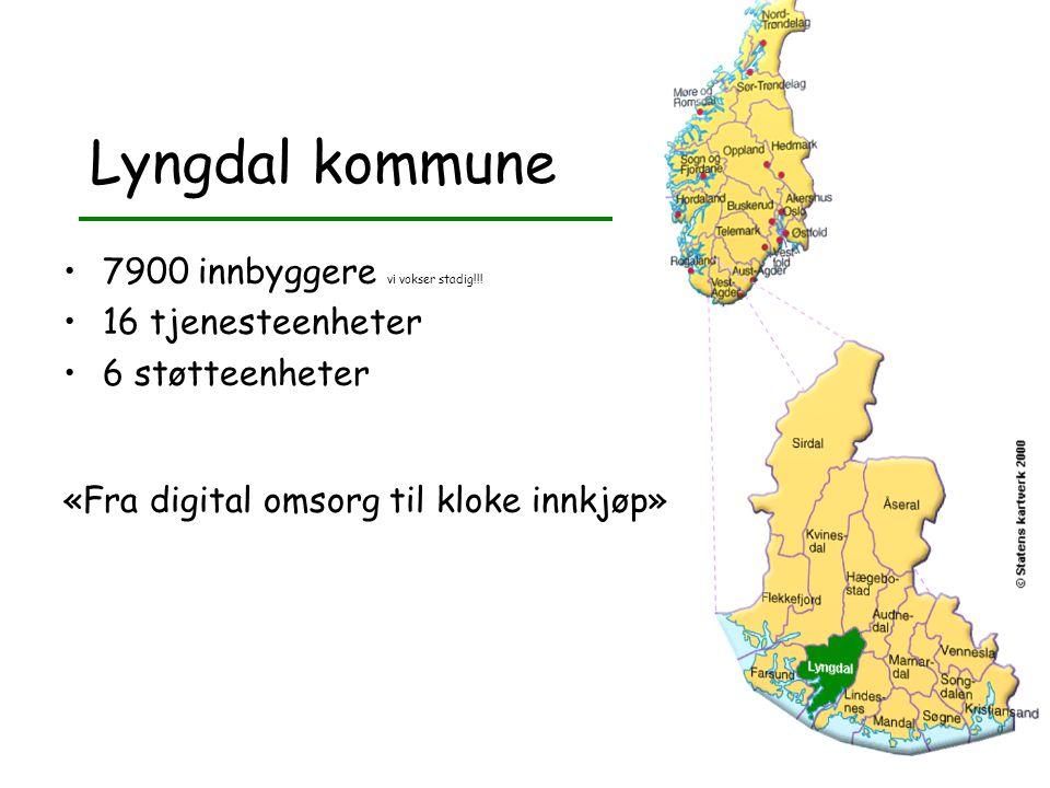 Lyngdal kommune 7900 innbyggere vi vokser stadig!!.