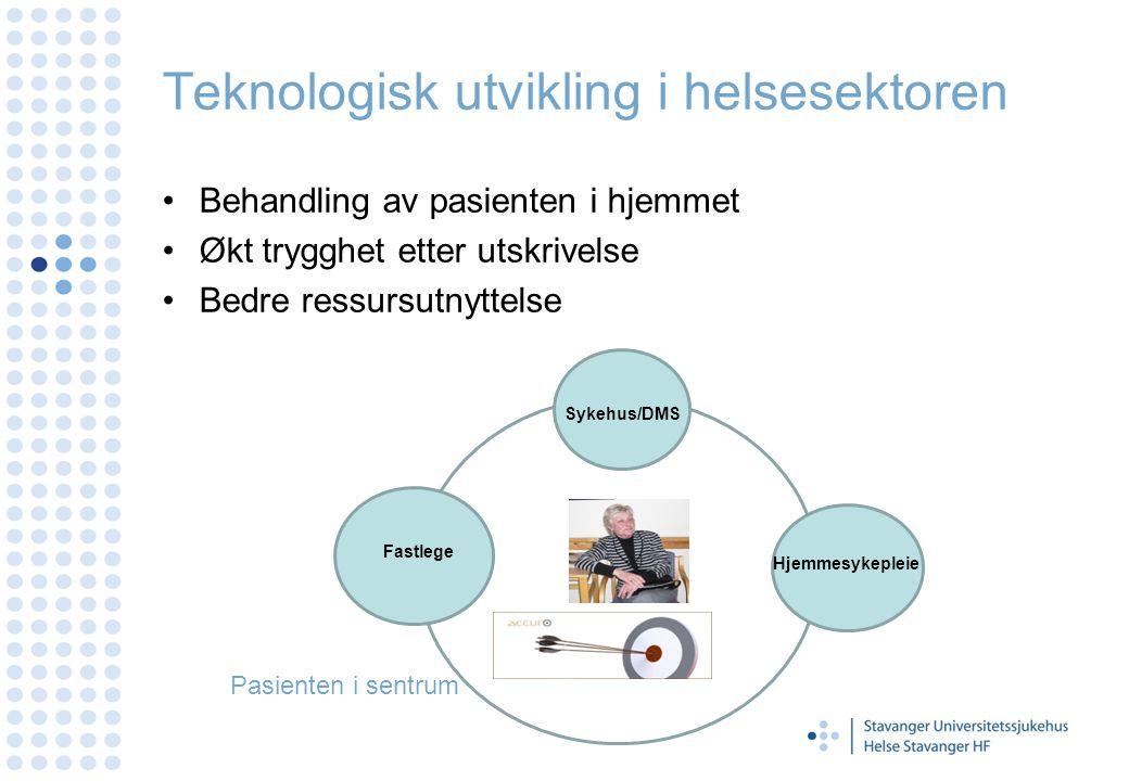 Telemedisinsk behandlingssystem 1 system Alle løsninger kjører på samme pasientsystem.