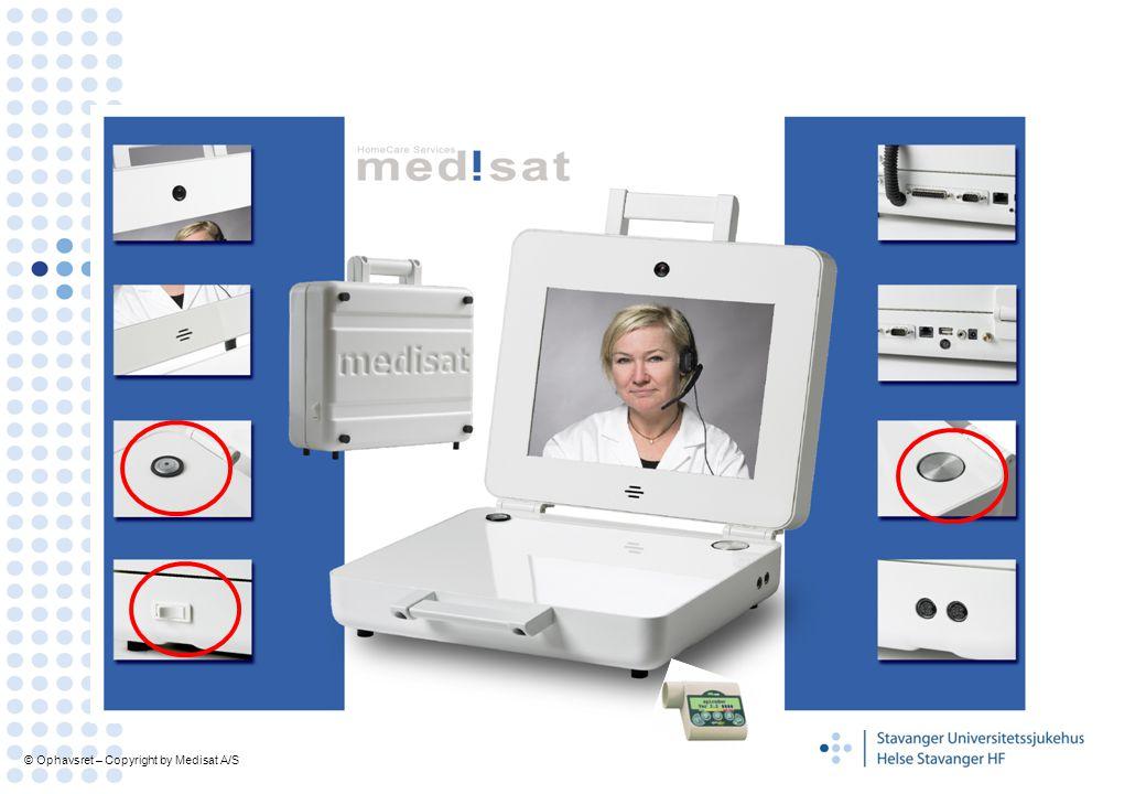 KOLS-kofferten Er en spesialutformet lap-top , hvor pasient og helsepersonell kan kommunisere via bilde og lyd.