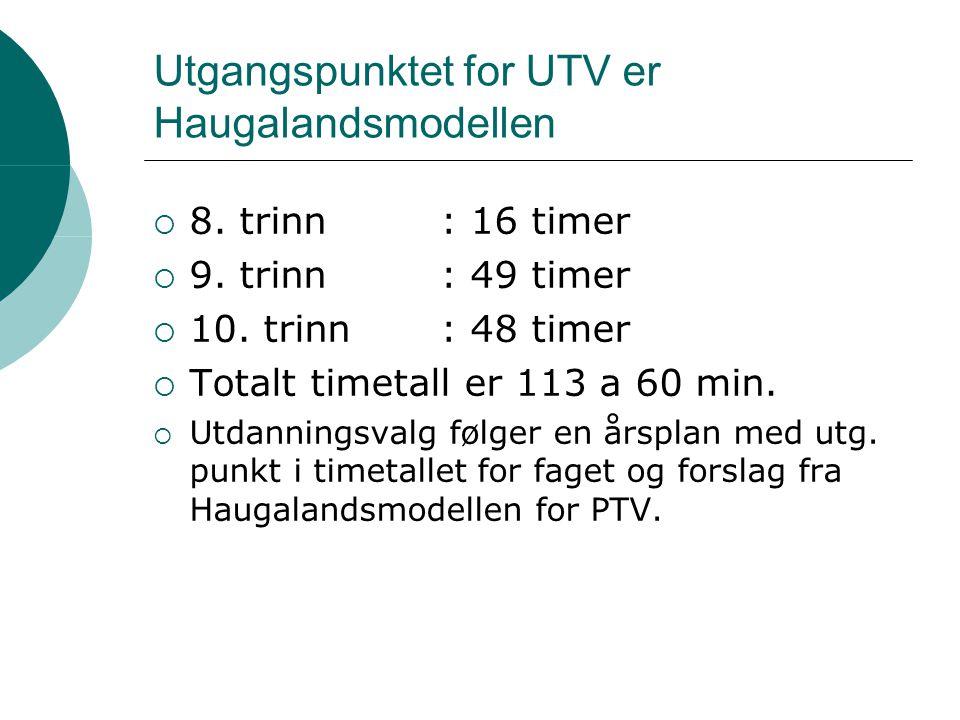 Kva meiner elevane om UTV. Kvifor har skulen faget UTV.