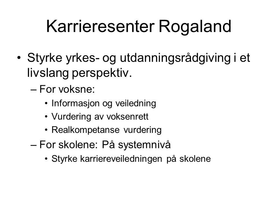 Karrieresenter Rogaland Styrke yrkes- og utdanningsrådgiving i et livslang perspektiv.