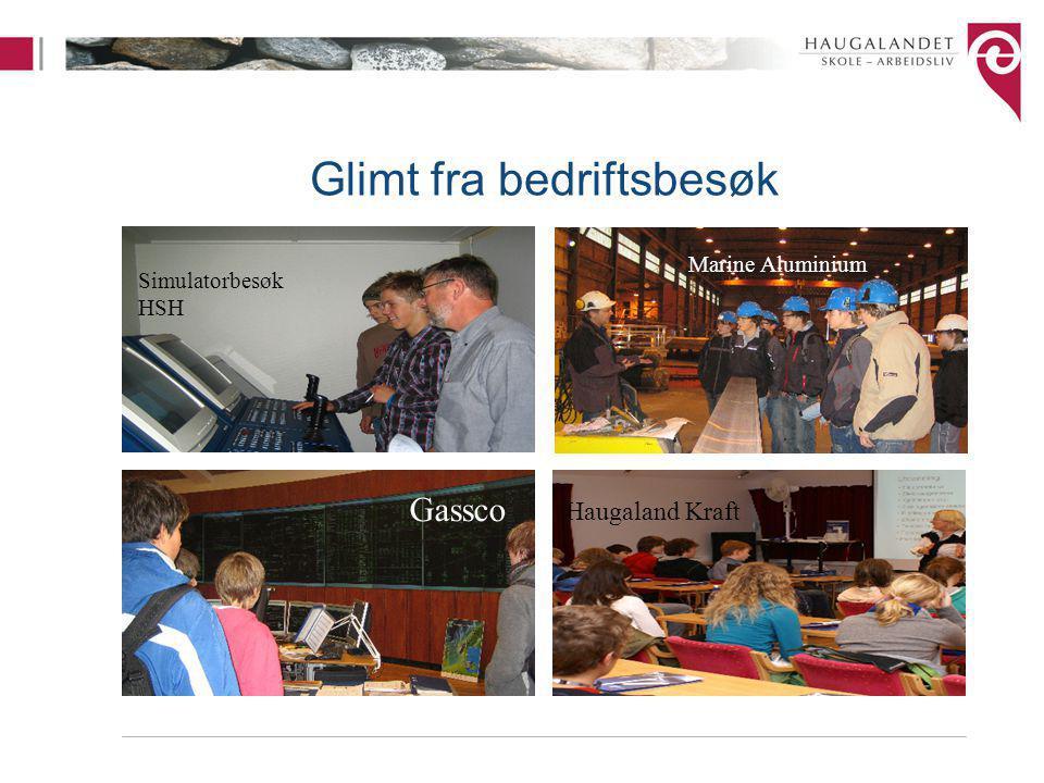 Glimt fra bedriftsbesøk Simulatorbesøk HSH Gassco Marine Aluminium Haugaland Kraft