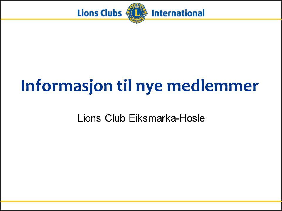 2Lions Clubs InternationalInformation för nya medlemmar Oversikt Denne informasjonspakken til nye medlemmer er delt inn i 4 deler:  Hva er Lions.