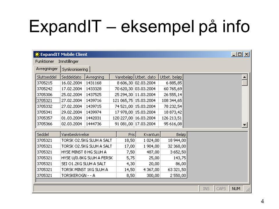 4 ExpandIT – eksempel på info