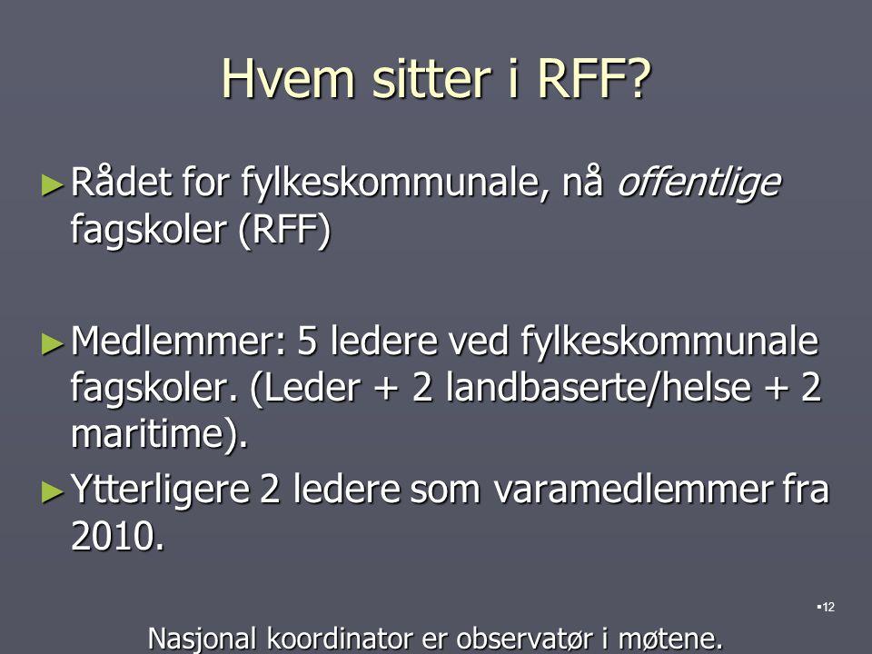 Hvem sitter i RFF.