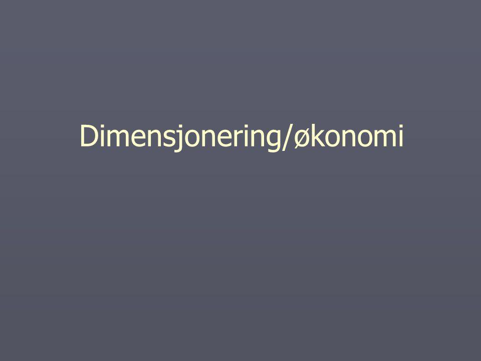 Dimensjonering/økonomi