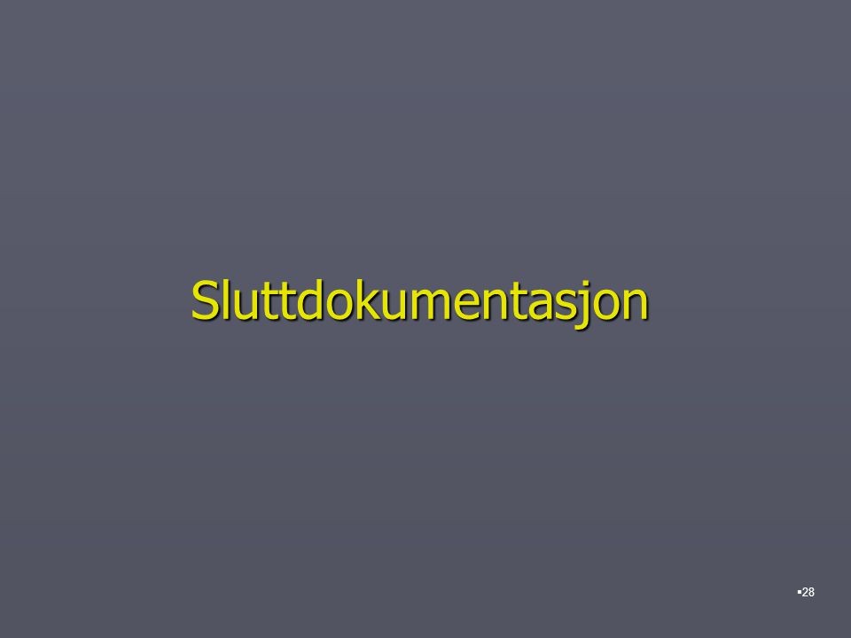 Sluttdokumentasjon  28