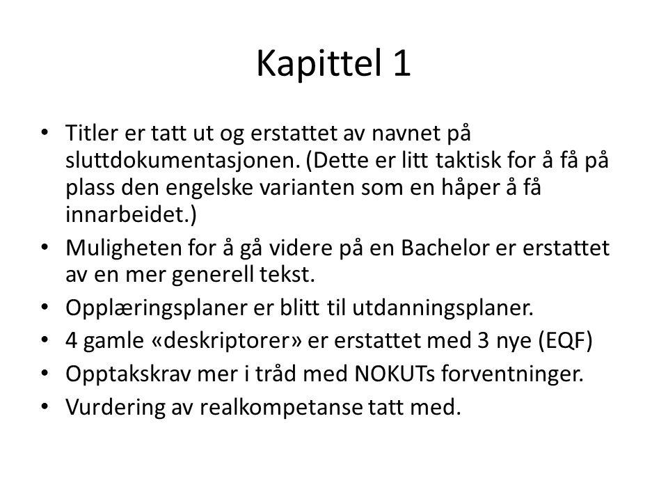 Kapittel 1 Titler er tatt ut og erstattet av navnet på sluttdokumentasjonen.