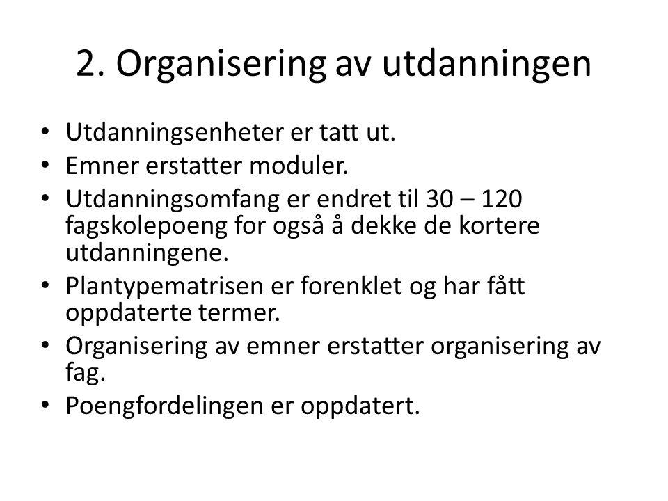 3.Arbeidsformer Listen med læringsformer/metoder er fjernet.