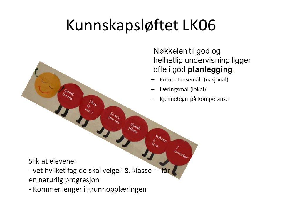 Målstyrte læreplaner i K06 Læreplanen for Fremmedspråk Nivå I 8.