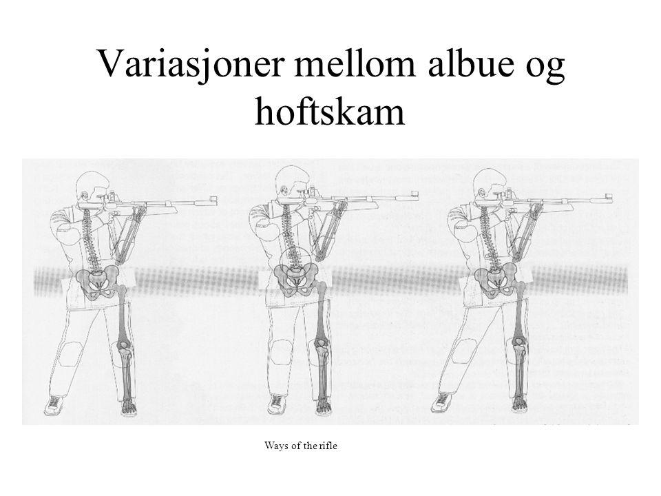 Variasjoner mellom albue og hoftskam Ways of the rifle
