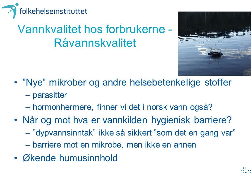 Nye mikrober og andre helsebetenkelige stoffer –parasitter –hormonhermere, finner vi det i norsk vann også.