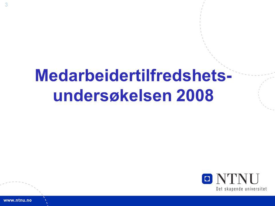 3 Medarbeidertilfredshets- undersøkelsen 2008