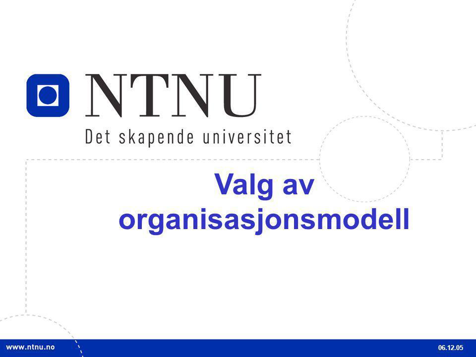 3 Valg av organisasjonsmodell 06.12.05