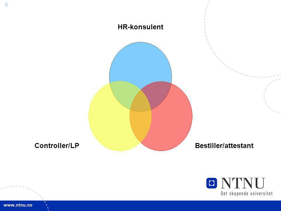 6 HR-konsulent Bestiller/attestantController/LP
