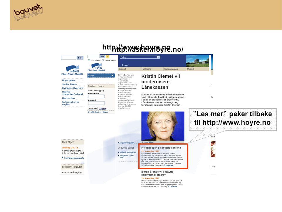 """http://www.hoyre.no http://asker.hoyre.no/ """"Les mer"""" peker tilbake til http://www.hoyre.no"""