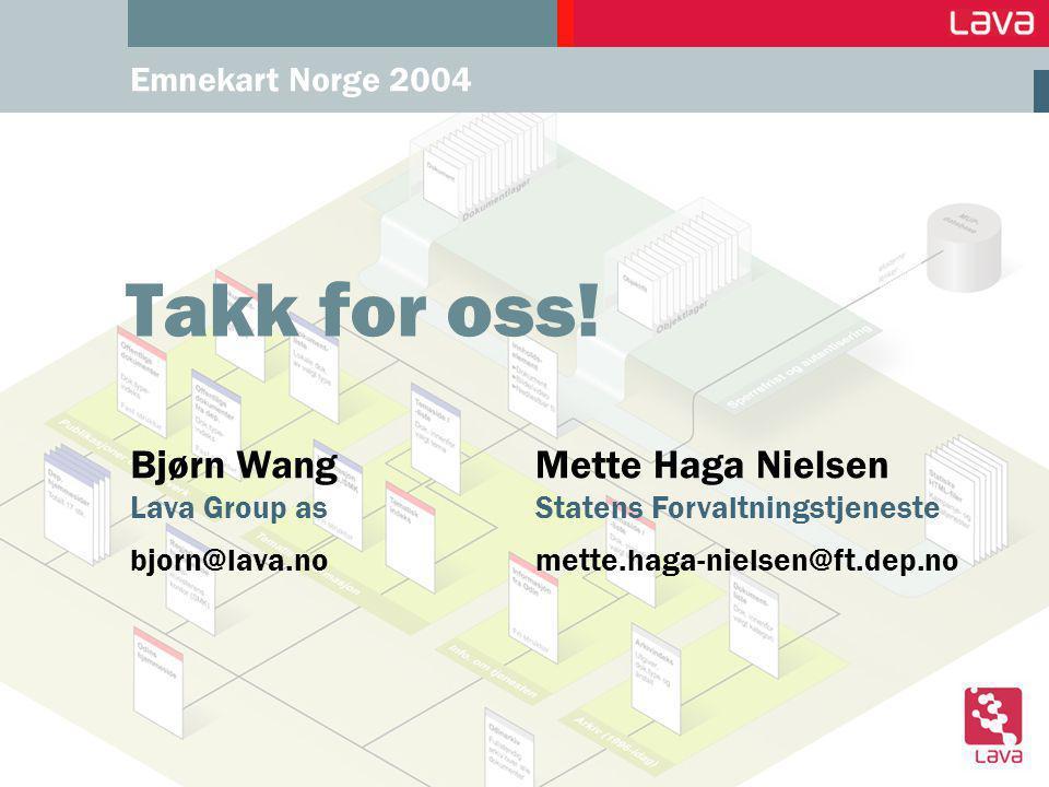 Emnekart Norge 2004 Takk for oss.