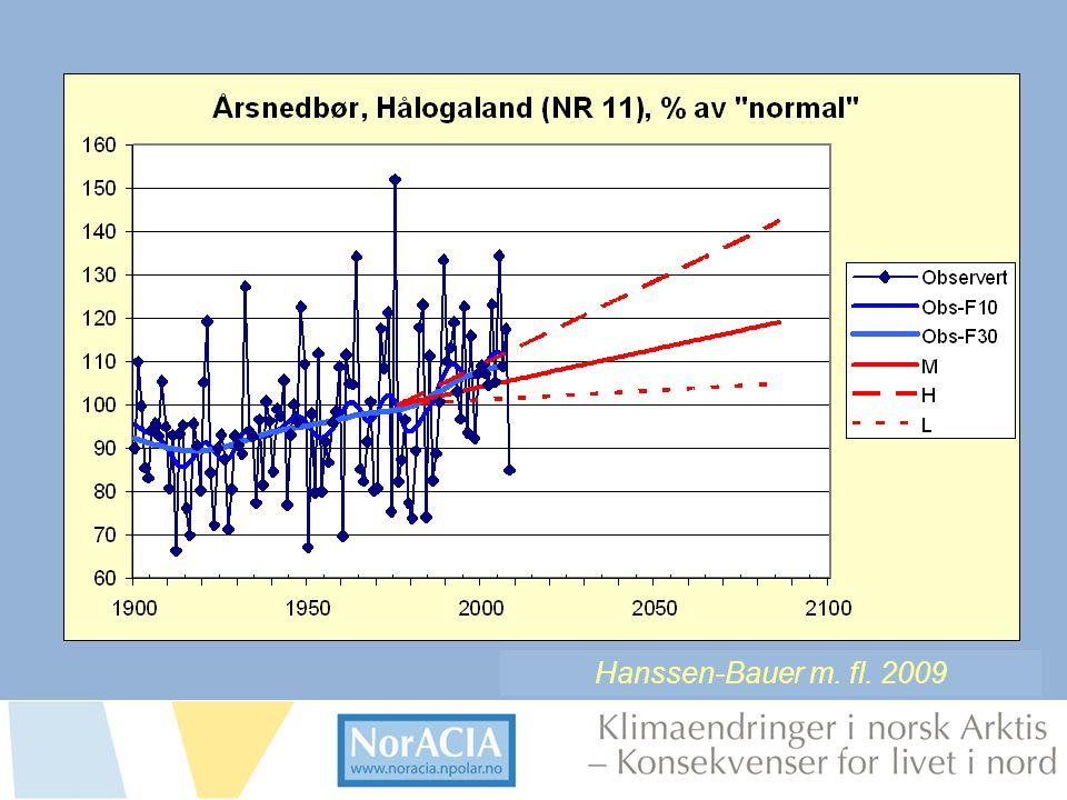 limaendringer i norsk Arktis – Knsekvenser for livet i nord Hanssen-Bauer m. fl. 2009
