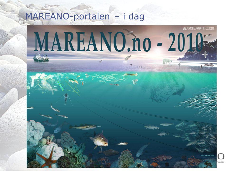 mareano.no - nettbasert kunnskapsformidling Nasjonal portal for forvaltningsplanene Innsynsverktøy for rapportering av miljøindikatorer GIS-basert dokumentasjon av dokumentasjon Arbeidsverktøy for forskere og forvaltere Havmiljø-delen av Norge Digital