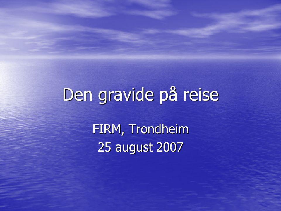 Den gravide på reise FIRM, Trondheim 25 august 2007