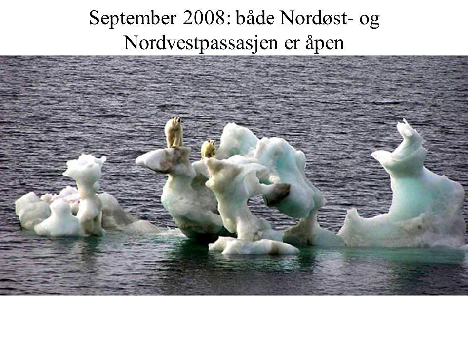September 2008: både Nordøst- og Nordvestpassasjen er åpen