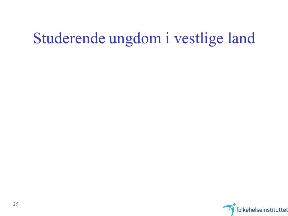 25 Studerende ungdom i vestlige land