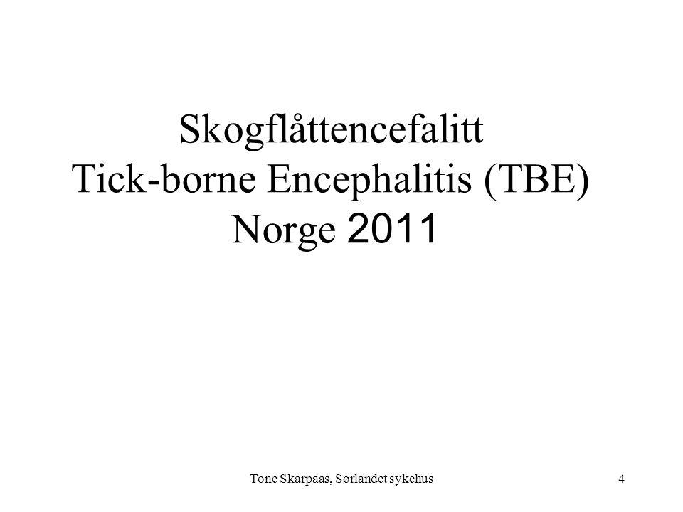 Skogflåttencefalitt Tick-borne Encephalitis (TBE) Norge 2011 4