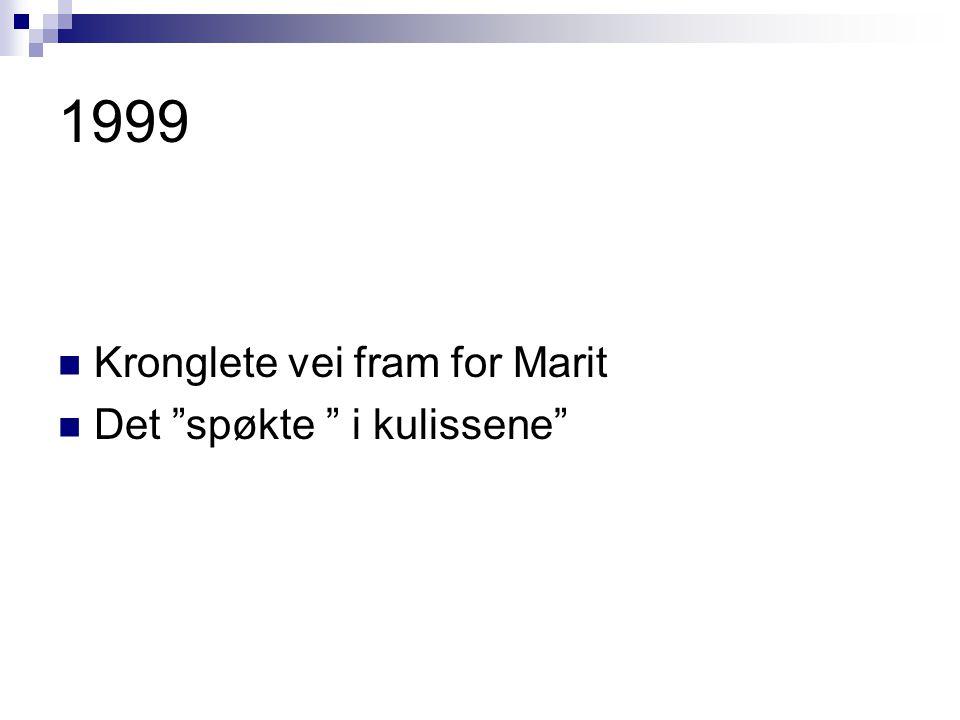 """1999 Kronglete vei fram for Marit Det """"spøkte """" i kulissene"""""""