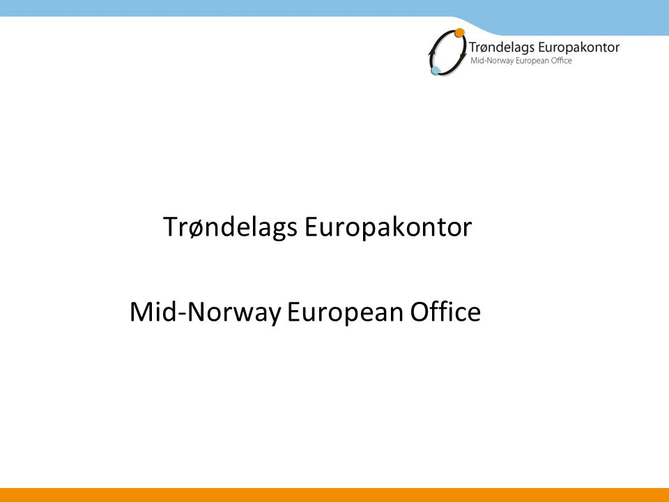 Trøndelags Europakontor Mid-Norway European Office