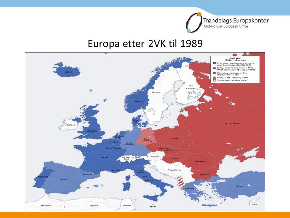Europa etter 2VK til 1989