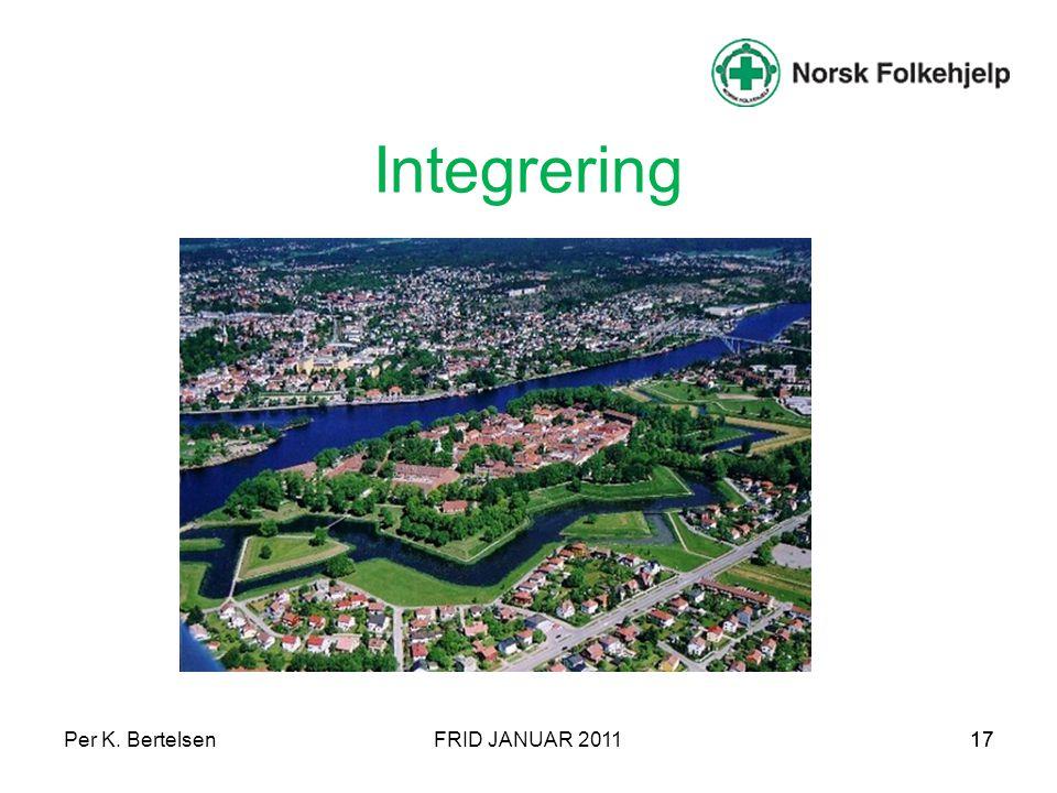 Per K. BertelsenFRID JANUAR 201117 Integrering