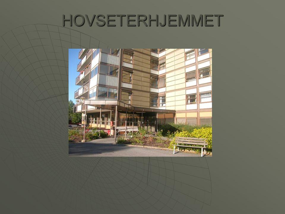 Hovseterhjemmet  Geografisk plassert i Bydel Vestre Aker  185 døgnplasser – fordelt på seks avdelinger  30 dagplasser