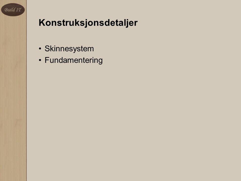 Konstruksjonsdetaljer Skinnesystem Fundamentering