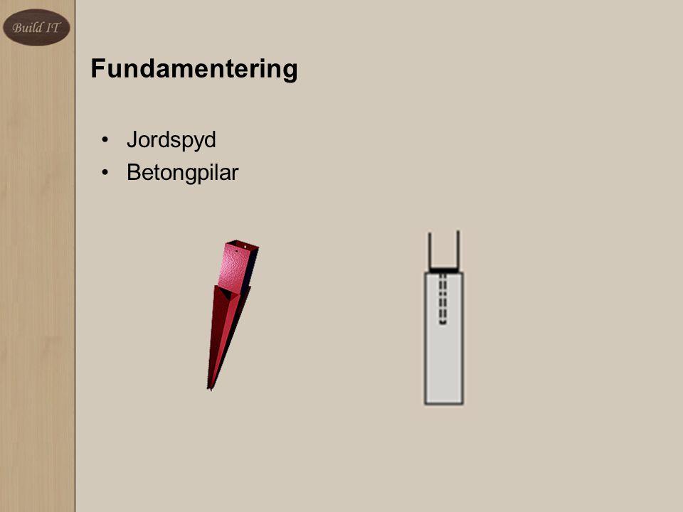 Fundamentering Jordspyd Betongpilar
