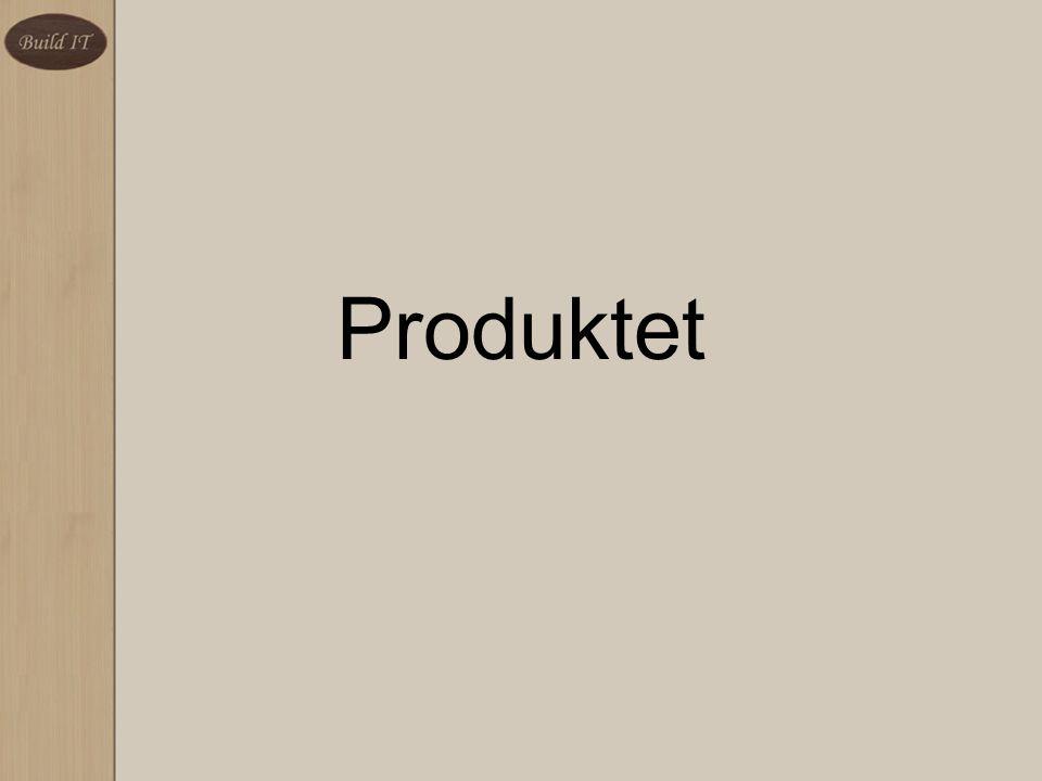 Leveggsystemet –Veggmoduler –Toppmoduler –Søyler –Endemoduler Nettsiden BuildIT
