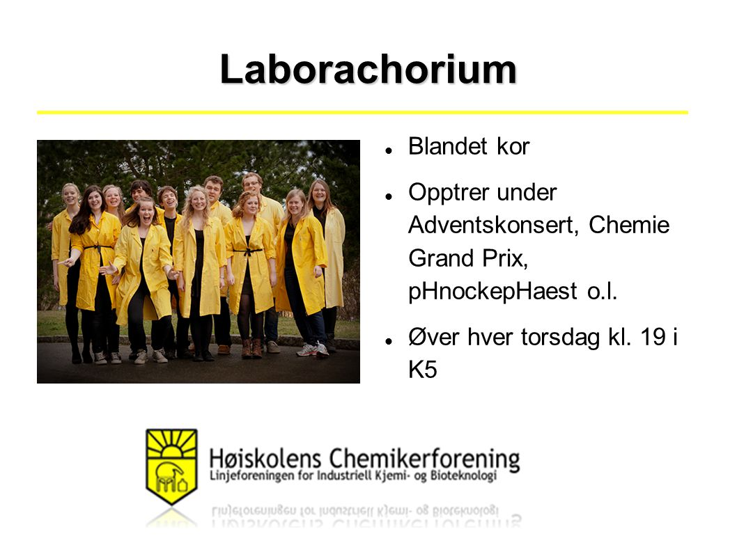 Laborachorium Blandet kor Opptrer under Adventskonsert, Chemie Grand Prix, pHnockepHaest o.l.