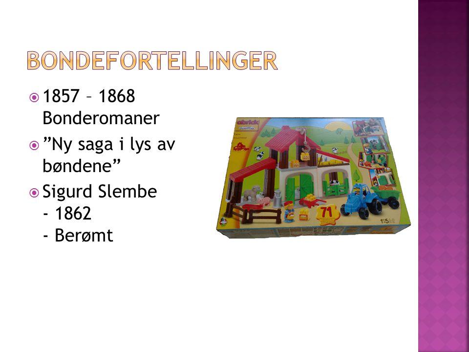  1857 – Direktør av teateret i Bergen  1860-1863 Mange reiser i Europa  1865 – Kristiania teater  Napoleonskrigen