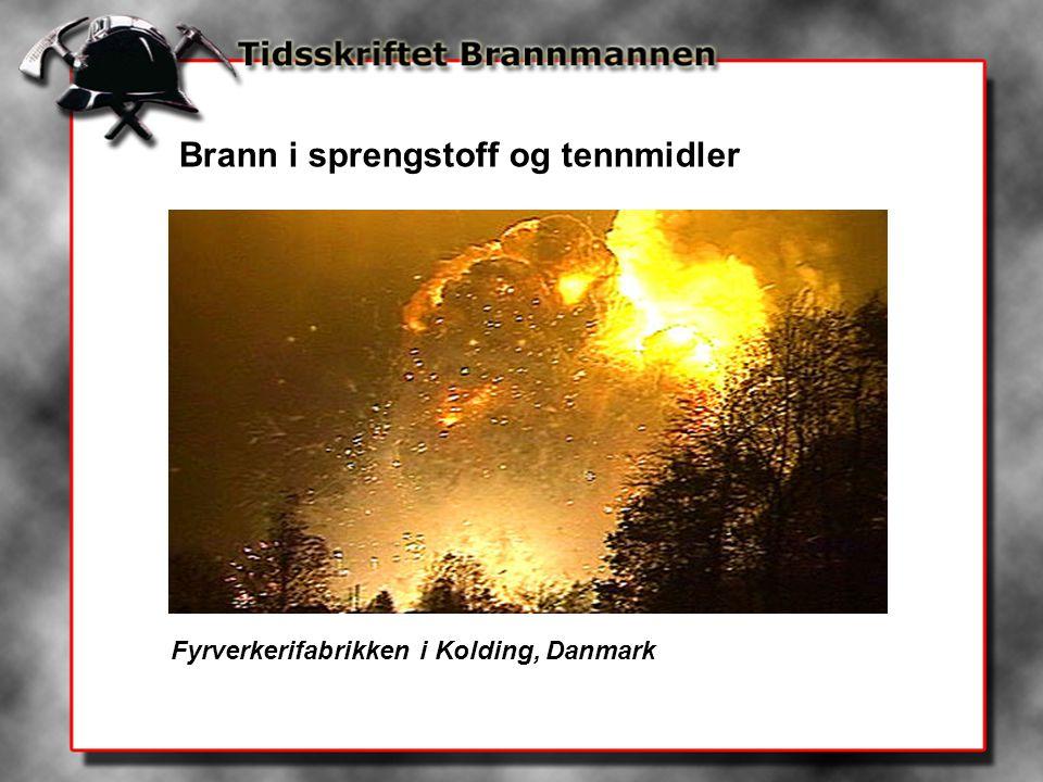 Brann i sprengstoff og tennmidler Fyrverkerifabrikken i Kolding, Danmark