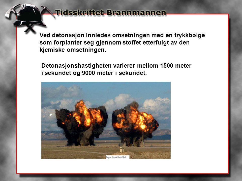 De mest kjente militære sprengstoffene er: TNT, oktol, NM 91 og comp.- C4.