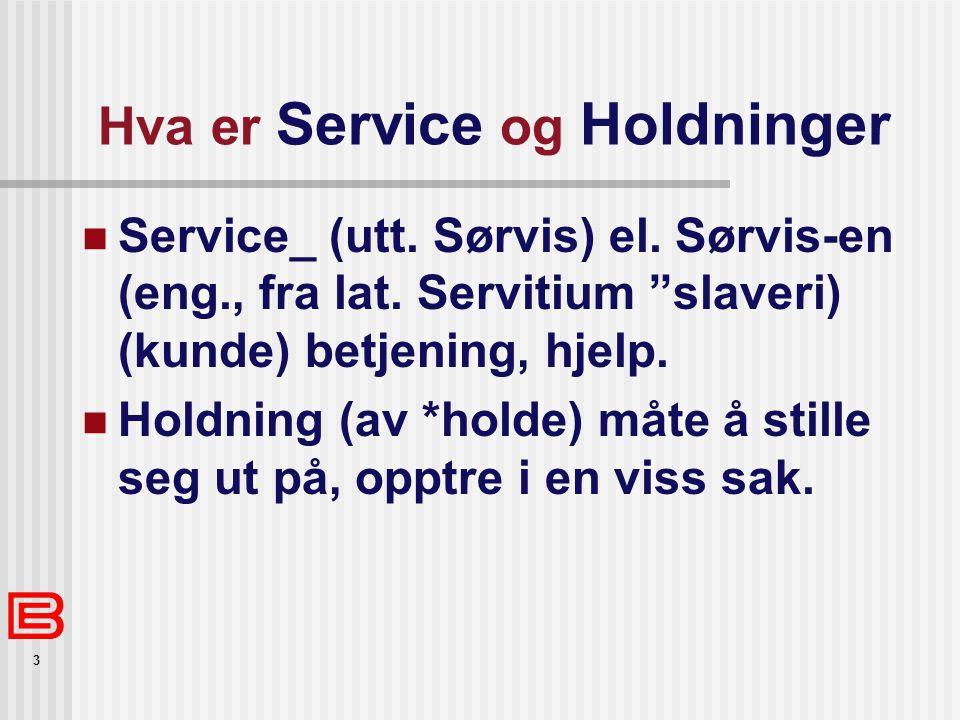 3 Hva er Service og Holdninger Service_ (utt. Sørvis) el.