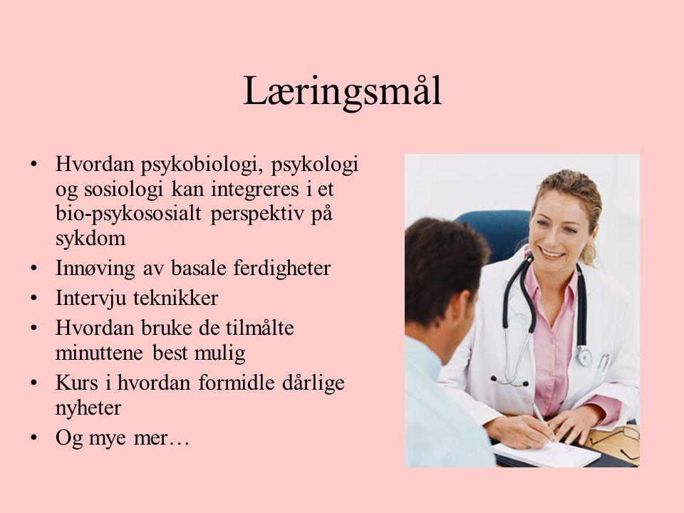 Tabell 1 Omfang av undervisning i klinisk kommunikasjon ved de fire fakulteter Tromsø (timer) Trondheim (timer) Bergen (timer) Oslo (timer) Startfasen 1.–2.