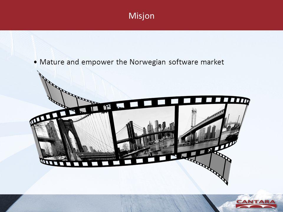 Misjon Mature and empower the Norwegian software market
