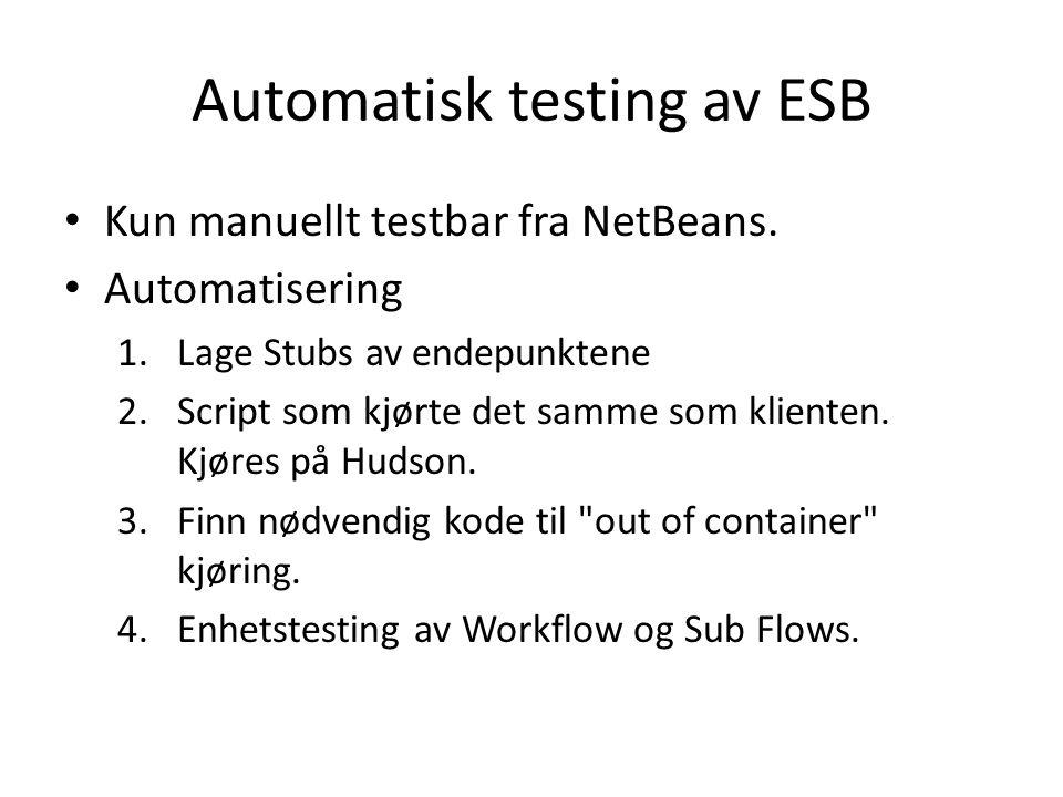 Kun manuellt testbar fra NetBeans.