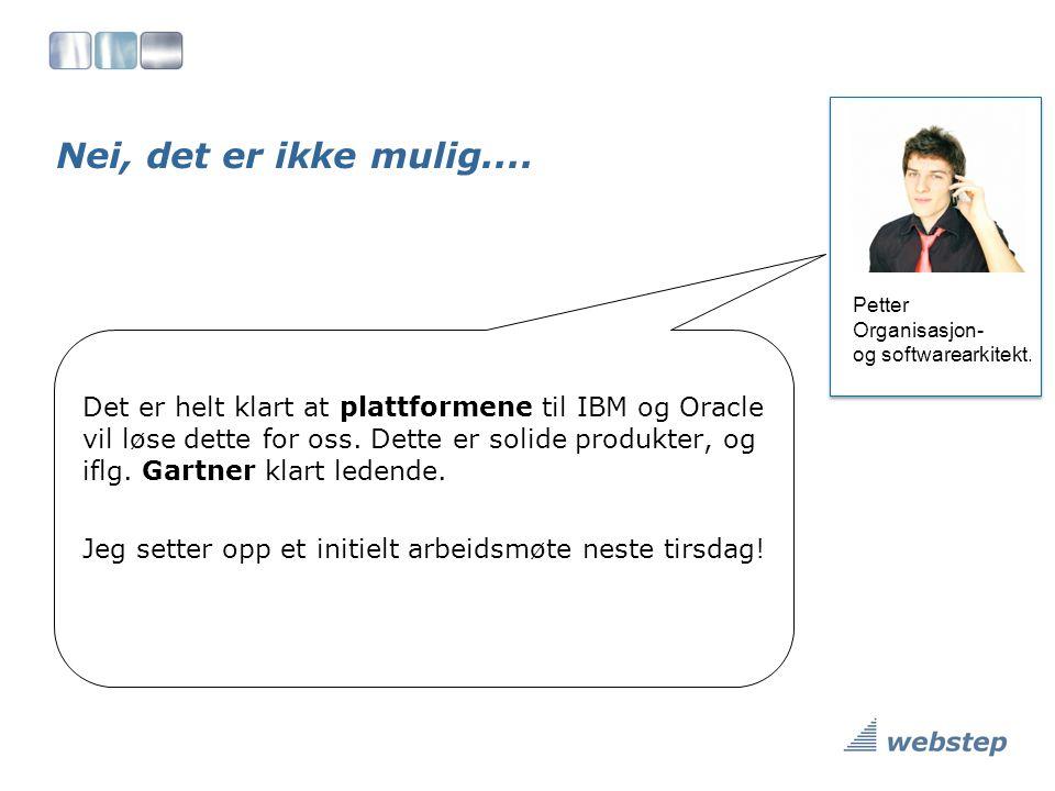 Nei, det er ikke mulig....Petter Organisasjon- og softwarearkitekt.